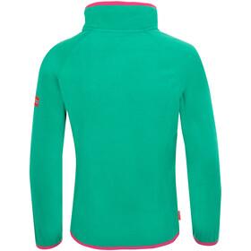 TROLLKIDS Nordland Sweat-shirt Demi-zip Enfant, peacock green/pink